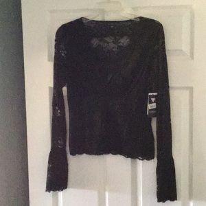 All lace black blouse
